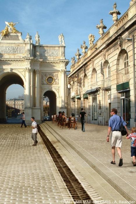 Variante des trottoirs Héré entre Place Stanislas et Place Carrière
