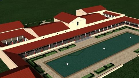 Cour principale et bassin