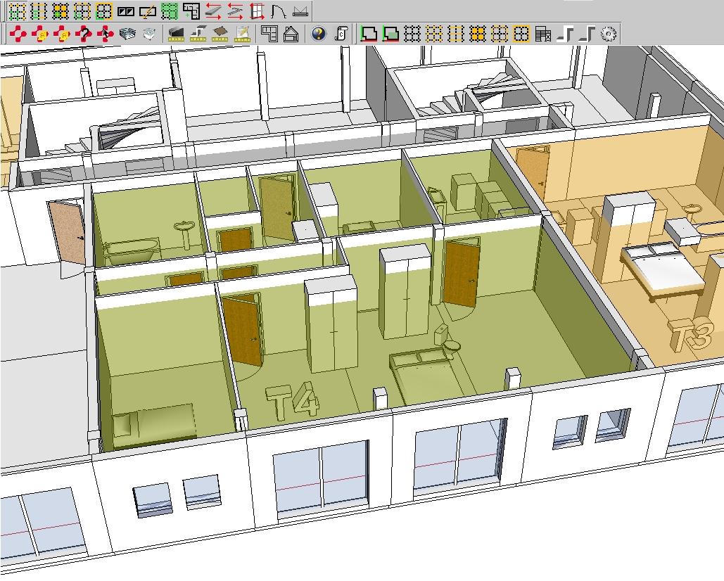 Aménagement intérieur du projet en cours de conception