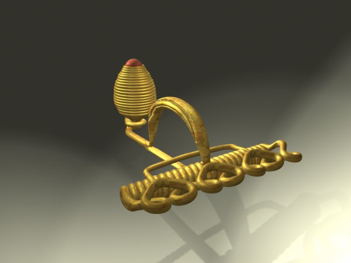 Restitution de la fibule en or portée par la princesse