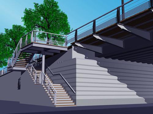 Détail de conception des escaliers d