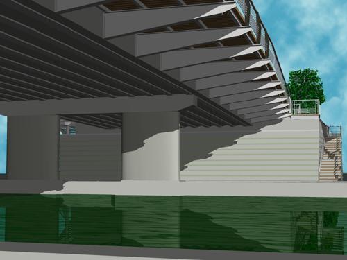Détail de conception des piles et sous-face du pont