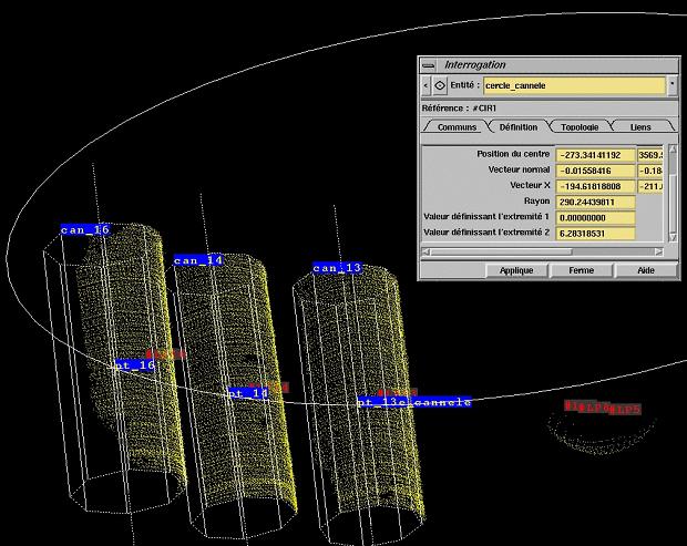 Reconstruction géométrique de la colonne, détermination de son diamètre exact