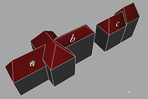 Exemple de toiture complexe